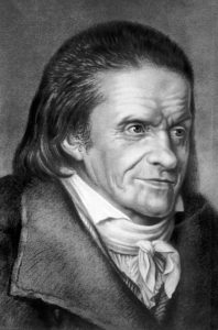 An engraving from a portrait of Johann Heinrich Pestalozzi, he was a Swiss educational theorist, his ideas contributed greatly to the formation of modern educational thinking, his work enabled Switzerland to almost completely eliminate illiteracy by 1830, 1900. From the New York Public Library. (Photo by Smith Collection/Gado/Getty Images).